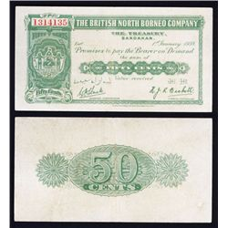 British North Borneo Company Issued Banknote.