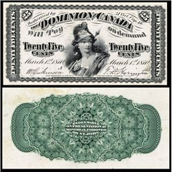 Dominion of Canada, Fractional Issue Proof.