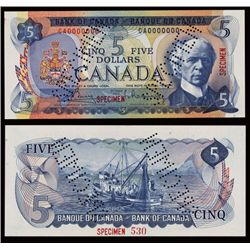Bank of Canada, 1969-75 Issue Specimen.