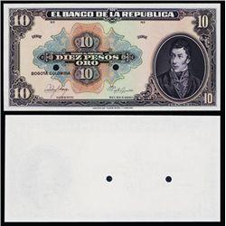 El Banco De La Republica, 1926-28 Issue Proof Banknote.