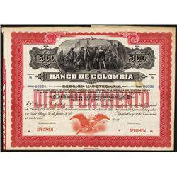 Banco De Colombia, 1905 Landing of Columbus Issue.