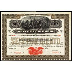 Banco De Colombia, Cedula Hipotecaria 1924 Issue.