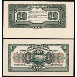 Banco Del Ruiz, 1905 Issue Proof Banknote.