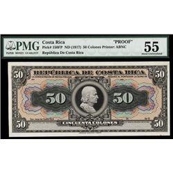 Republica De Costa Rica, ND 1917 Silver Certificate Issue Proof.