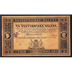 Danish West Indies, 18xx (ca.1898), Remainder Banknote.
