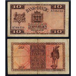 Bank Von Danzig, 1924 Issue Banknote.