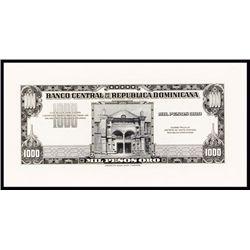 Banco Central De La Republica Dominicana, ND (1947-50) Issue Proof.