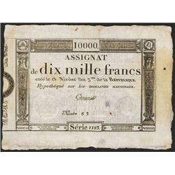 Republique Francaise, 1795 Franc Issue Assignat.