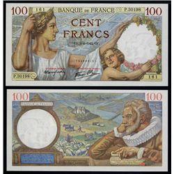 Banque De France, 1942 Issue High Grade Banknote.
