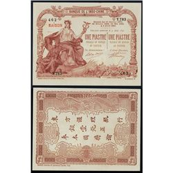 Banque De L'Indo-Chine ND 1909-21 Issue Banknote.