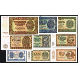 Deutsche Notenbank, 1948 issue Banknotes.