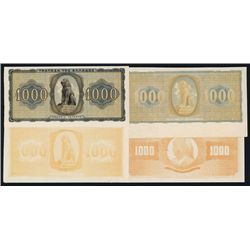 Bank of Greece, 1942 Inflation Issue Progress Proofs.
