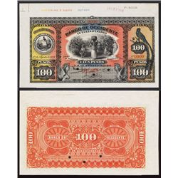 Banco de Occidente En Quetzaltenango,Ê1916 Issue Specimen.