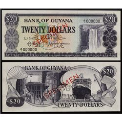 Bank of Guyana, 1966 ND Issue Color Trial Specimen.
