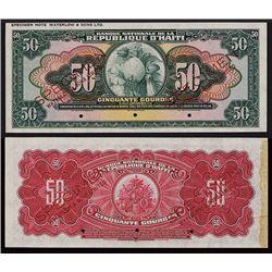 Banque Nationale De La Republique D'Haiti Trial Color Specimen.