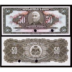 Banque De La Republique D'Haiti Tyvek Banknote.