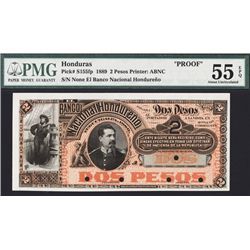El Banco Nacional Hondureno, 1889 Issue Proof Banknote.