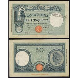 Banca D'Italia 1943 Issue Short Snorter.