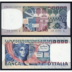 Banca D'Italia, 1982 Issue Banknote.