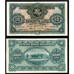 Lietuvos Bankas, 1927 Issue Banknote.