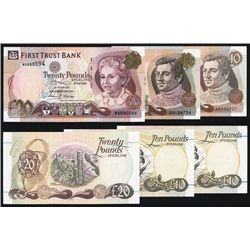 First Trust Bank 1994 to 1998 Issue Banknote Trio.