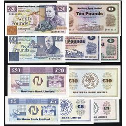 Northern Bank Limited 1978 to 1998 Issue Banknote Quintet.