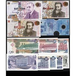 Northern Bank Limited 1997 to 2004 Issue Banknote Quartet.