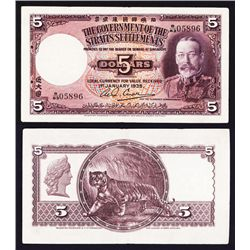 Government of the Straits Settlements, 1935 Issued Banknote.