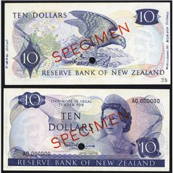 Reserve Bank of New Zealand ND (1967-81) Issue Specimen Banknote.