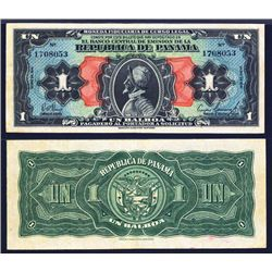 Banco Central De Emision, 1 Balboa 1941 Issue Banknote.