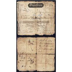 Dumfries Commercial Bank, 1 Guinea, 1804 issued Bank note.