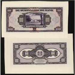 De Surinaamsche Bank 1941-48 Issue Proof Banknote.