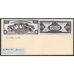 De Bank Van Suriname, Photographic Proof of Essay Banknote by ABNC.