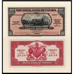 Royal Bank of Canada Proof Banknote, 1938 Issue.