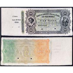 Banco De Londres Y Rio De La Plata, Discovery 1870's Issue Specimen Banknote.