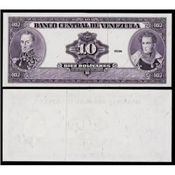 Banco Central De Venezuela, 1986-95 Issue ÒPrinters EssayÓ.