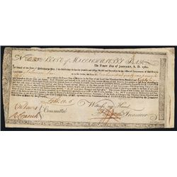 State of Massachusetts Bay, 1780, 6% ÒCommodity LoanÓ for the Continental Army.