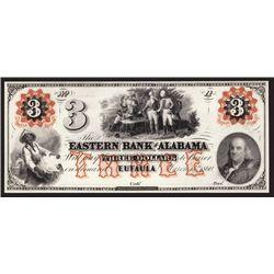 Eastern Bank of Alabama $3 Proprietary Proof Banknote