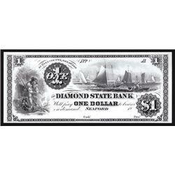 Diamond State Bank, $1 Proprietary Proof Banknote