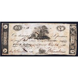 J.F. Rondolf, 181x $5 Obsolete Banknote.