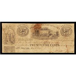 New Orleans, Municipality No.Two, 1837 Obsolete Panic Scrip Note.