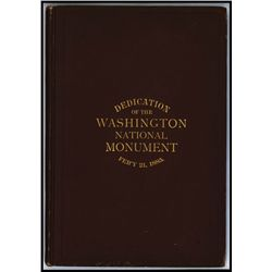 ÒDedication of the Washington National Monument, 1885Ó With BEP Printed Invitation Bound into Book.
