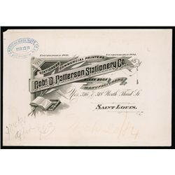 Robt. D. Patterson Stationery Co. ABN Proof Letterhead.