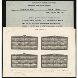 American Bank Note Co. 1928 Calendar Approval Proof Block of 4.