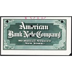American Bank Note Company Calendar Top or Sample Advertising Sign.
