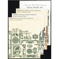 American Bank Note Co. Annual Reports, 1977, 1978, 1979, 1981.