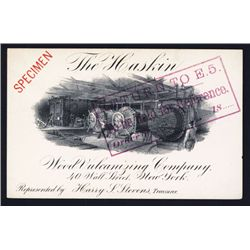 Haskin Wood Vulcanizing Specimen Business or Calling Card by ABN.