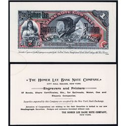 Homer Lee Banknote Company ca.1880's Advertising Banknote.