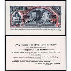 Homer Lee Banknote Company ca.1880's Advertising Banknote.