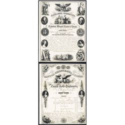 Rawdon, Wright, Hatch & Edson 1854 Dated Advertising Sheet.